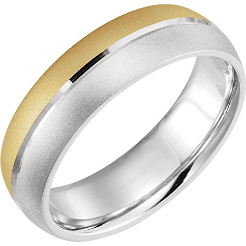 - Beautiful White and yellow gold 14K Two Tone Design Duo Band