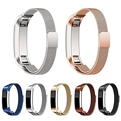 Fitbit Alta Bands Metal, by BQD - Milanese Loop Stainless Steel Replacement Accessories - Metal Small & Large Bands Band for Fitbit Alta (6 Colors)
