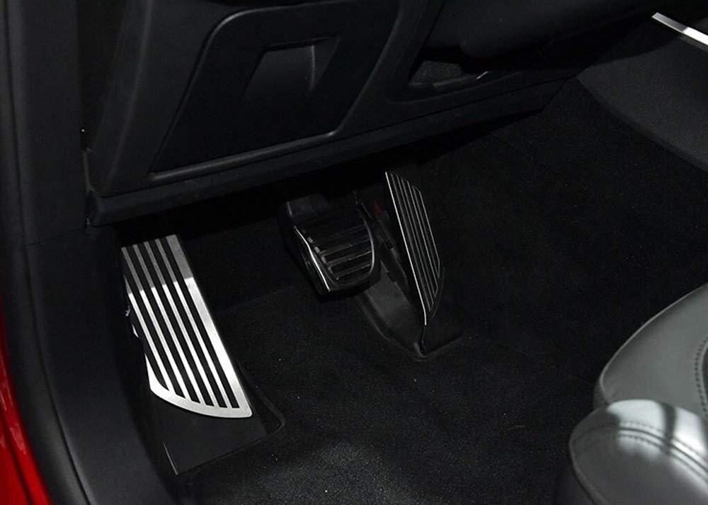 Salusy No Drilling Fuel Brake Footrest Pedal Cover Accelerator Brake Foot Rest Pedal Pad for Alfa Romeo Giulia 2017 2018