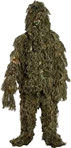 Modern Warrior Forest and Woodland Leaves Design Ghillie Suit, 3-Piece, One Size Fits Most Adults