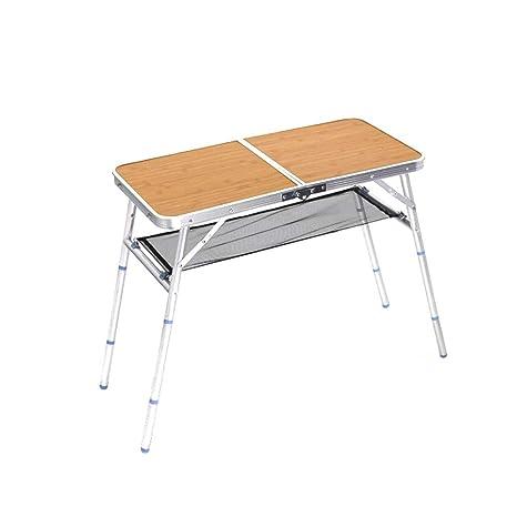 WPCBAA Mesa plegable portátil al aire libre con altura ...
