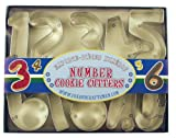 Fox Run 3640 Number Cookie Cutter Set, Stainless Steel, 10-Piece