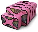 Shacke Pak - 5 Set Packing Cubes - Medium/Small - Luggage Packing Travel Organizers (Precious Pink)