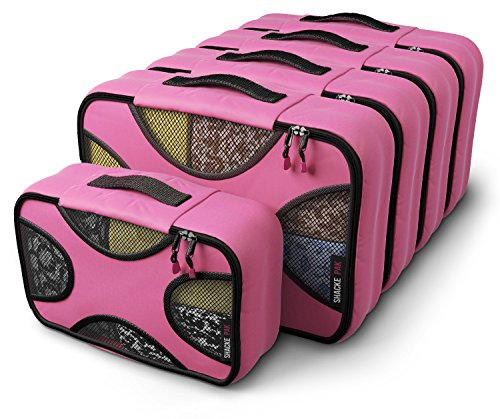 Shacke Pak - 5 Set Packing Cubes - Medium/Small - Luggage Packing Travel Organizers (Precious Pink) ()