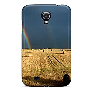 Lmf DIY phone caseNew Premium Flip Case Cover Double Rainbow Over A Hayfield Skin Case For Galaxy S4Lmf DIY phone case