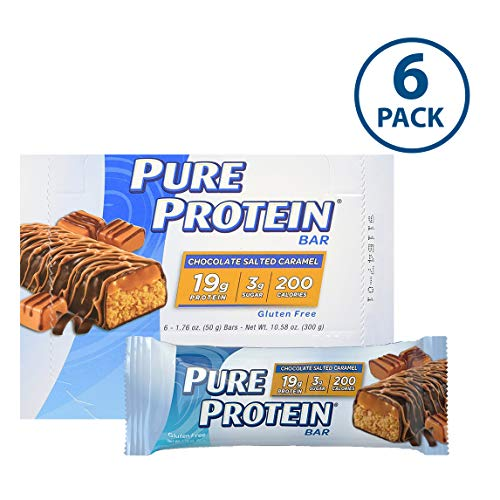 - Pure Protein Bars, High Protein, Nutritious Snacks to Support Energy, Low Sugar, Gluten Free, Chocolate Salted Caramel, 1.76oz, 6 Pack