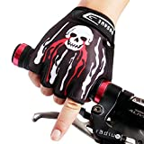 Wolfbike Non-Slip Gel Pad Gloves Cycling Riding Gloves,Black,M(7-8cm)