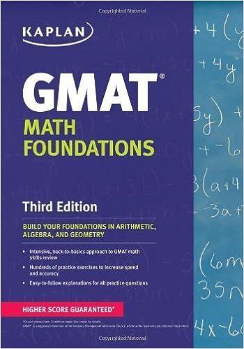 Kaplan GMAT Math Foundations by Kaplan (2013-05-07)