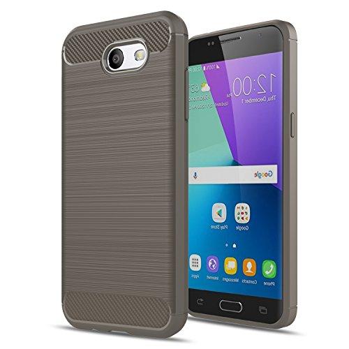 Galaxy J3 Emerge/J3 2017/J3 Mission/J3 Eclipse/J3 Luna Pro/Amp Prime 2/J3 Prime/Express Prime 2 Case,AnoKe Slim Scratch Resistant TPU Thin cases cover For Samsung J3 Emerge HWLS Grey