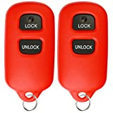 KeylessOption Keyless Entry Car Remote Control Key Fob Replacement Fob HYQ12BAN, HYQ12BBX -Red (Pack of 2)
