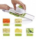 SIMPOO Handheld Multi Mandoline Vegetable Slicer & Grater Kitchen...