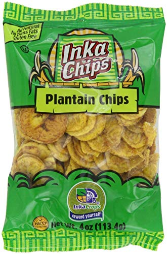 (Inka Crops Inka Chips Roasted Plantain Chips 4 Ounce Bags Pack of 5)