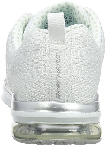 White Air Skech Silver Infinity Mujer Blanco Zapatillas para Skechers 0wZ5Tq0