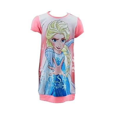 Die Eisk/önigin Disney Anna /& ELSA M/ädchen T-Shirt Rosa Frozen
