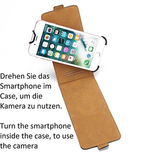 Pour Apple iPhone X: Housse Coque Étui de protection 360° protection Smartphone Téléphone portable Flip Style Case Camera Protector. plat et élégant. cuir artificiel, noir - K-S-Trade(TM)