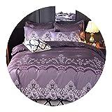 Set King Size lace Bedding Set Queen Size Quilt Cover Pillowcase Bed Linen Wedding Bedclothes,A5,AU King 3pcs