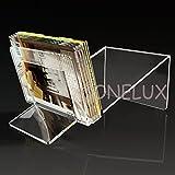 Lucite Acrylic magazine/ book /brochure Storage Organizer Rack - various colors (clear)