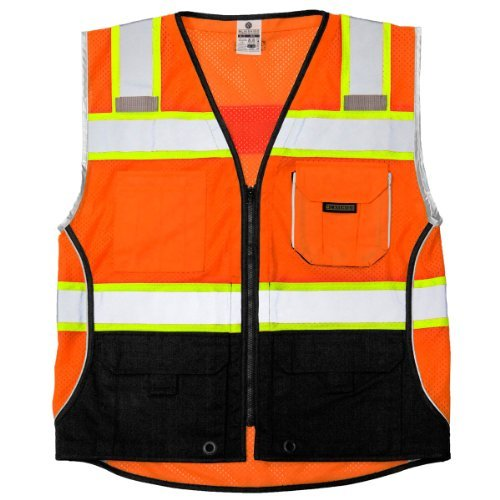 ML Kishigo MLK-1516-XL Black Series Vest; Color- Orange; Size- XL by ML Kishigo