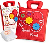 deMoca Toddlers Interactive Activity Quiet Book – Early Learning Sensory and Fine Motor