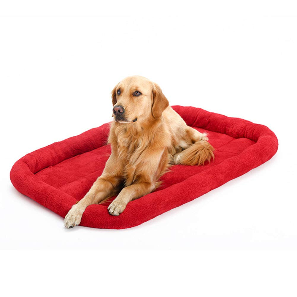 Red Small Red Small Dog Bed Mat Crate Pad Soft Mattress Washable Breathable Cotton Mat for Large Medium Small Pets Sleeping,Red,S