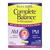 Natrol Women's Health Complete Balance for Menopause AM & PM Formulas 30 day supply 219285