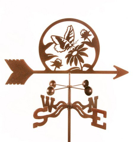 EZ Vane Butterfly and Flowers Weathervane