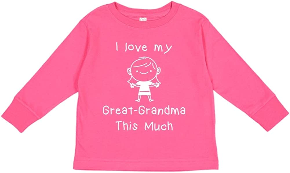I Love My Great-Grandma This Much Toddler//Kids Long Sleeve T-Shirt Little Girl