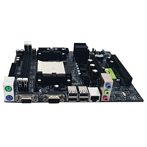 ETbotu Desktop Computer Motherboard Support for AM2 for AM3 CPU DDR2+DDR3 Memory Mainboard with 4 SATA2 Ports