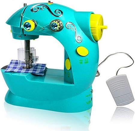 shengshiyujia Mini pequeña máquina de Coser de Juguete para niños en Miniatura portátil, Hace para la Navidad Ideal, Regalo de cumpleaños: Amazon.es: Hogar