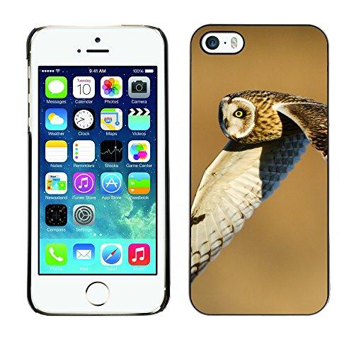 Premio Sottile Slim Cassa Custodia Case Cover Shell // F00016836 hibou volant // Apple iPhone 5 5S 5G
