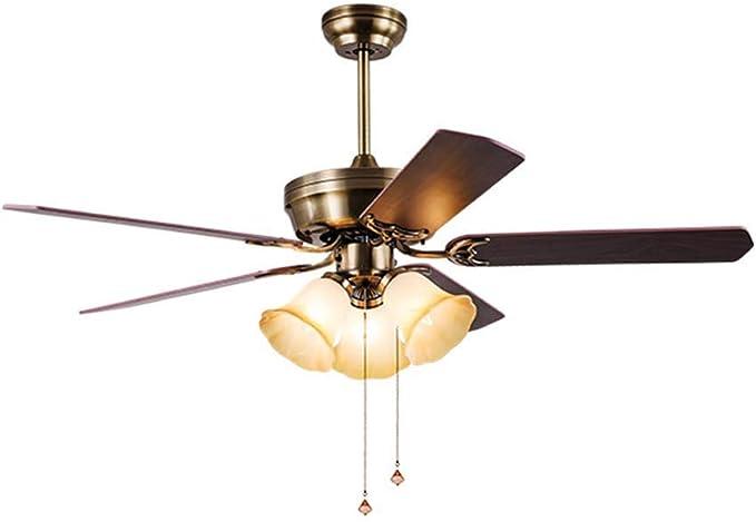 Moderno Ventilador de techo/interior Iluminación De madera Luz del ...