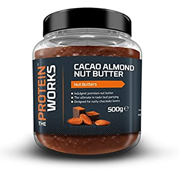 The Protein Works Mantequilla de Almendras y Cacao - 500 gr: Amazon.es: Salud y cuidado personal