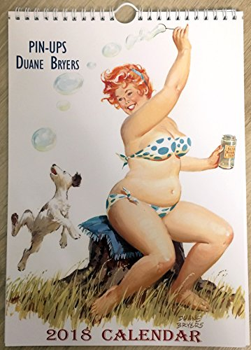 Hilda by Duane Bryers Wall Calendar 2018 Pin Up Chubby Sexy Girl Retro Vintage A4 Edit - Retro Nude Vintage