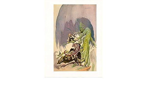 "1977 Full Color Plate /""Beast Of Venus/"" by Frank Frazetta Fantastic GGA"