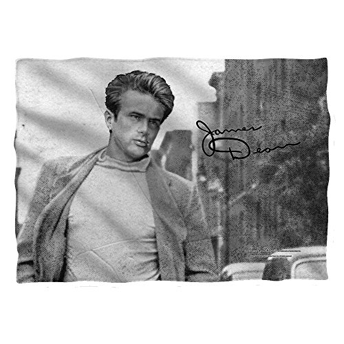 JAMES DEAN/WALK (FRONT/BACK PRINT) - POLY 20X28 PILLOW CASE - White - ONE SIZE by Trevco