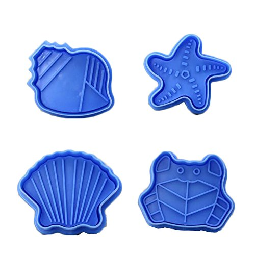 East Majik 4PCS Blue Ocean Style Biscuits Mold