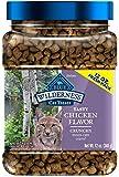 Blue Buffalo Wilderness Grain Free Crunchy Cat Treats - Chicken 12-oz Tub