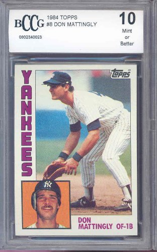 1984 Topps #8 DON MATTINGLY RC Rookie card BGS BCCG 10 -