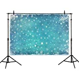 Allenjoy 7x5ft Ice Blue Winter Backdrop Photography Studio Birthday Party Decor Banner Festival White Snowflake Snowfall Christmas Background Baby Shower Kids