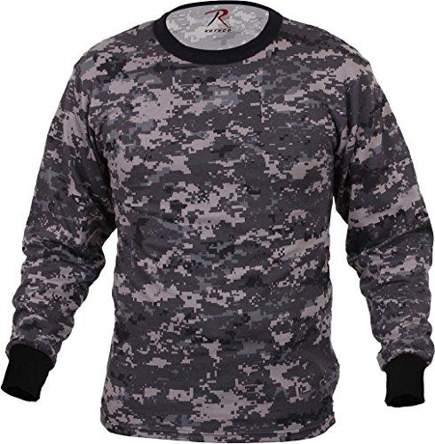 - Tactical Camo Long Sleeve T-Shirt Military Camouflage Crew-Neck Tee Undershirt