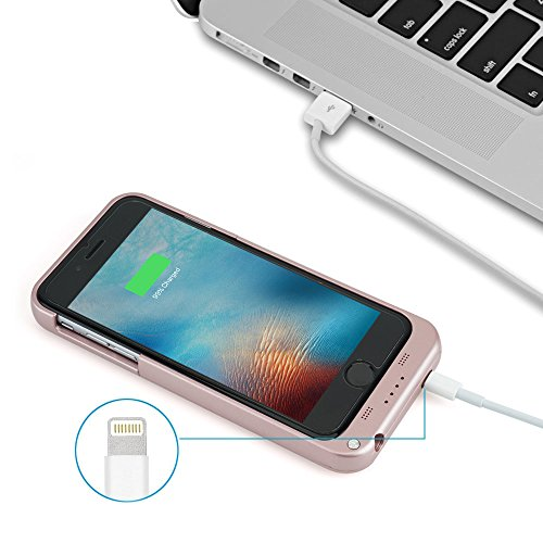 Toughsty 4800mAh External Backup Battery Charger Cases Pack lightweight Protective potential Bank instance Cover for iPhone 6 6s Plus Battery Charger Cases