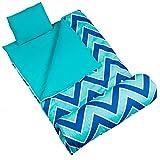 Wildkin Sleeping Bag, Children's Original Sleeping Bag With Pillowcase and Storage Bag, Premium Cotton & Microfiber Blend Exterior, 100% Cotton Flannel Interior, Ages 5+, Zigzag Lucite