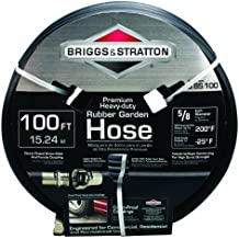 Briggs and Stratton 8BS100 100-Foot Premium Heavy-Duty Rubber Garden Hose