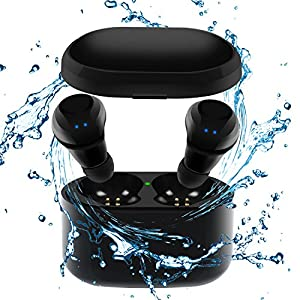 Wireless Earbuds, Tankfly TWS Mini Bluetooth Earbuds True Stereo IPX5 Sweatproof Sports Car Bluetooth Headset For Iphone Samsung Ipad And Android Phone Women Men (Black)