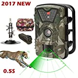 #6: Game Trail Camera 1080P 12MP with Sound Scouting Camera with 2.4in LCD Screen No Glow Black Infrared Night Vision 0.5s Trigger Speed IP66 Waterproof for Wildlife Hunting Monitoring and Farm Security