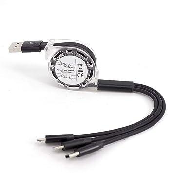 Refaxi - Cable Cargador Universal 3 en 1 multifunción USB ...