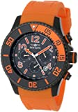Invicta Men's 13733 Pro Diver Chronograph Black Carbon Fiber Dial Orange Polyurethane Watch