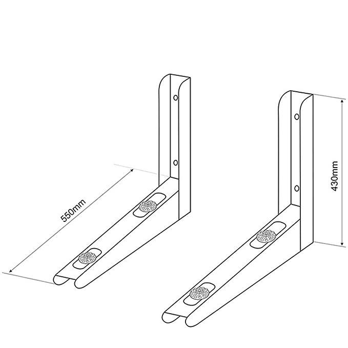 Maclean MC de 624 - Consola de pared Soporte de pared pared soporte Aire Acondicionado Split climática dispositivo Aire Acondicionado Acero galvanizado ...