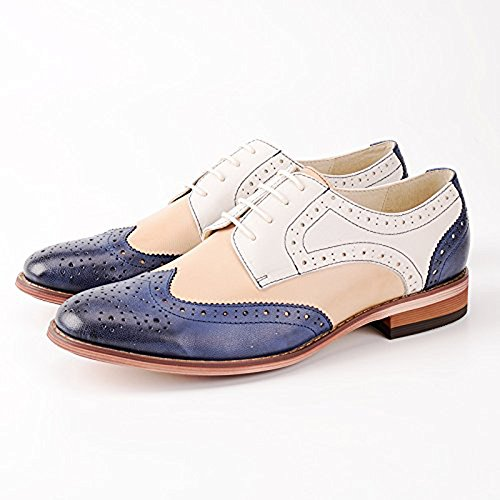 Leather Oxford Oxford Women Women A E215 Shoes Shoes for Oxford Heels Shoes Oxford aXawAz