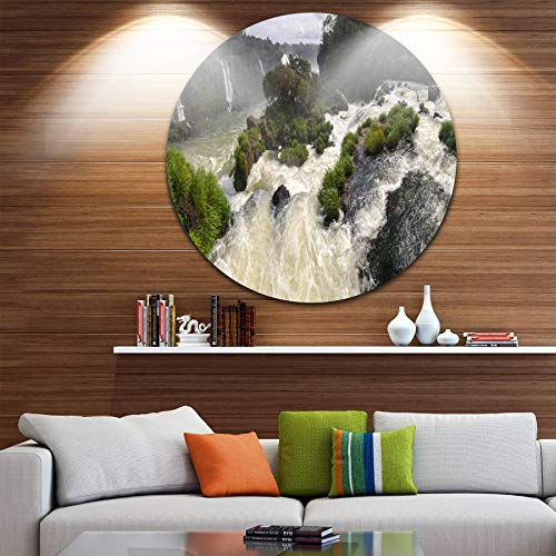 Designart Waterfall Iguacu Falls in Brazil Landscape Large Metal Wall - Iguacu Waterfalls
